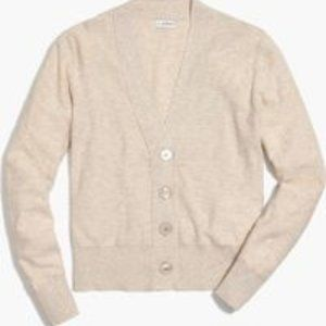 J Crew Factory Slub Cotton V Neck Cardigan Small